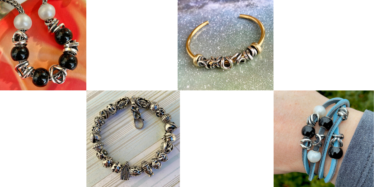 trollbeads jewellery - infinite virtues collection - spring collection 2020 - jewellery trends - bracelets - beads and charms