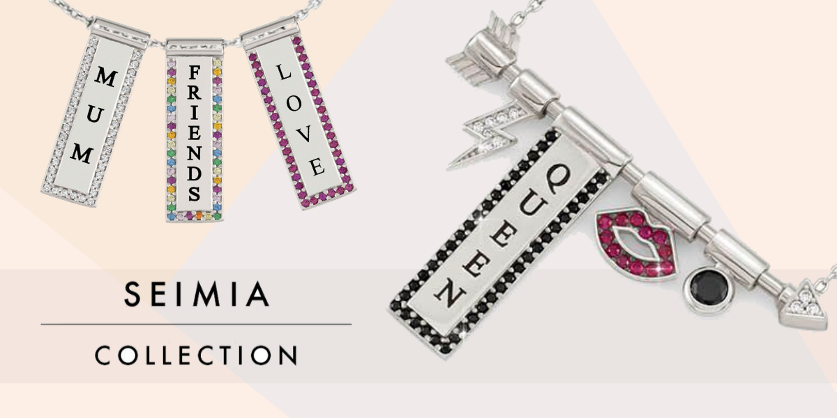 nomination italy - seimia collection - arrow and heart themed jewellery - charm jewellery - studded charms - friends and love charms
