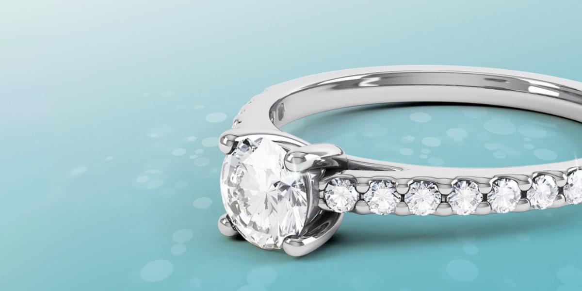 platinum - diamond - ring - horizontal view