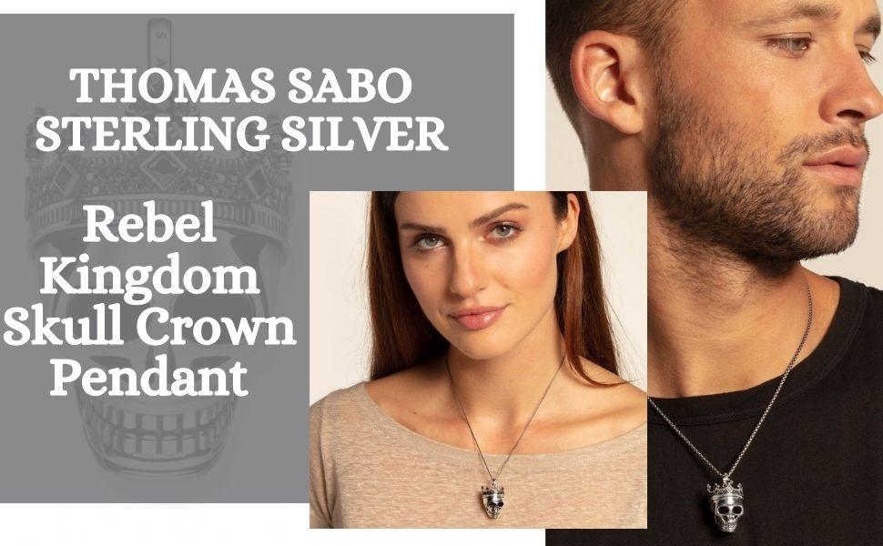 Thomas Sabo - Sterling Silver Jewellery - Kingdom Skull Crown Pendant