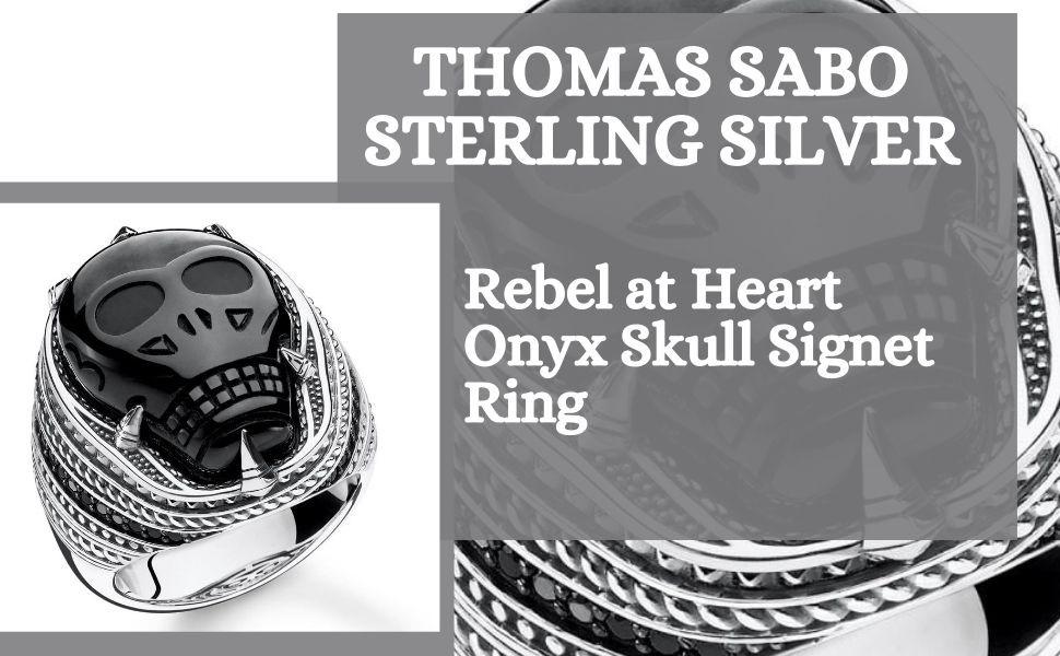 Thomas Sabo - Sterling Silver Jewellery - Skull Themed - Skull Signet Ring