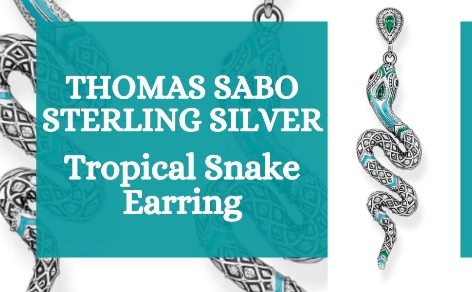 Thomas Sabo -Halloween - Sterling Silver Jewellery - Tropical Themed Jewellery - Snake Earrings