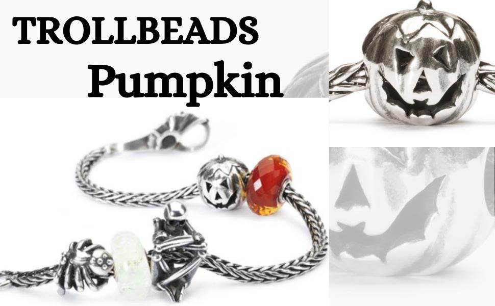 Trollbeads Jewellery - Halloween Jewellery - Pumpkin Themed Bracelets - Sterling Silver