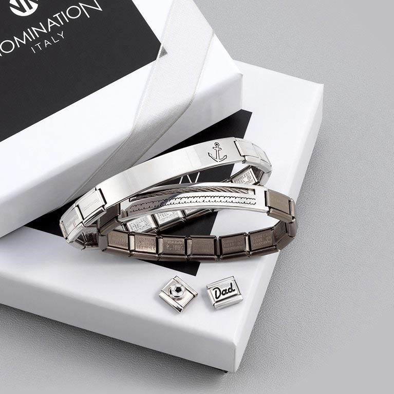 Nomination Italy - gift box - Valentines gifts - stackable bracelet - nomination charms - silver jewellery