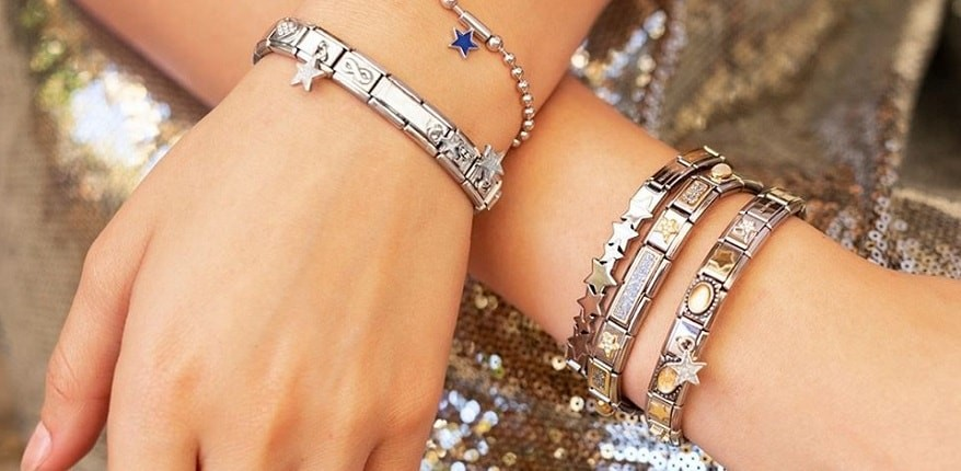 nomination italy - charm bracelets - stackable bracelets - star charms bracelets - sterling silver jewellery - nomination shooting star charms