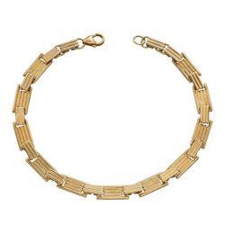 Elements Gold - 9ct Black Label Column Inspired Long Bar Bracelet