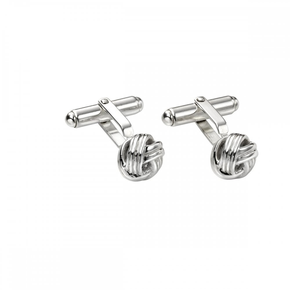 Sterling Silver Knot Cuff Links