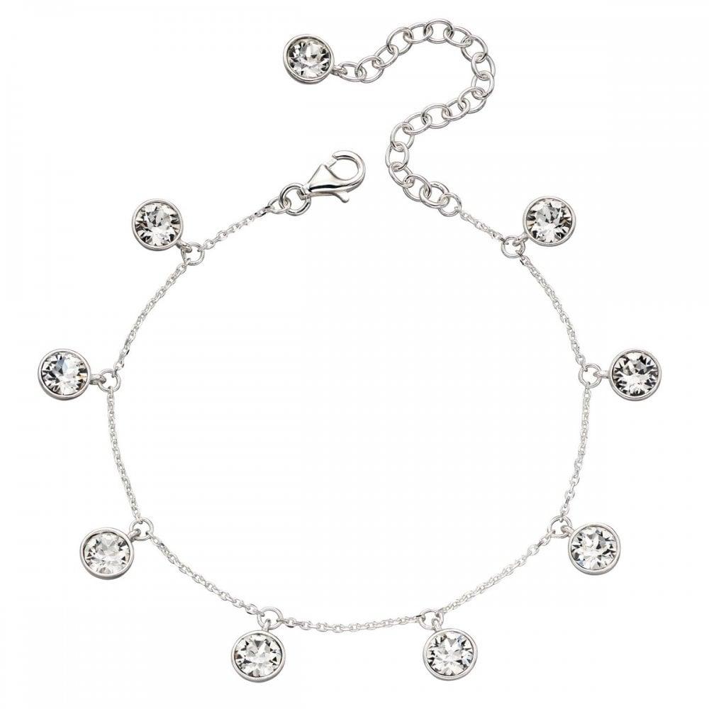 Elements Silver Elements Silver Clear Crystal Swarovski Charm Bracelet  B5172C