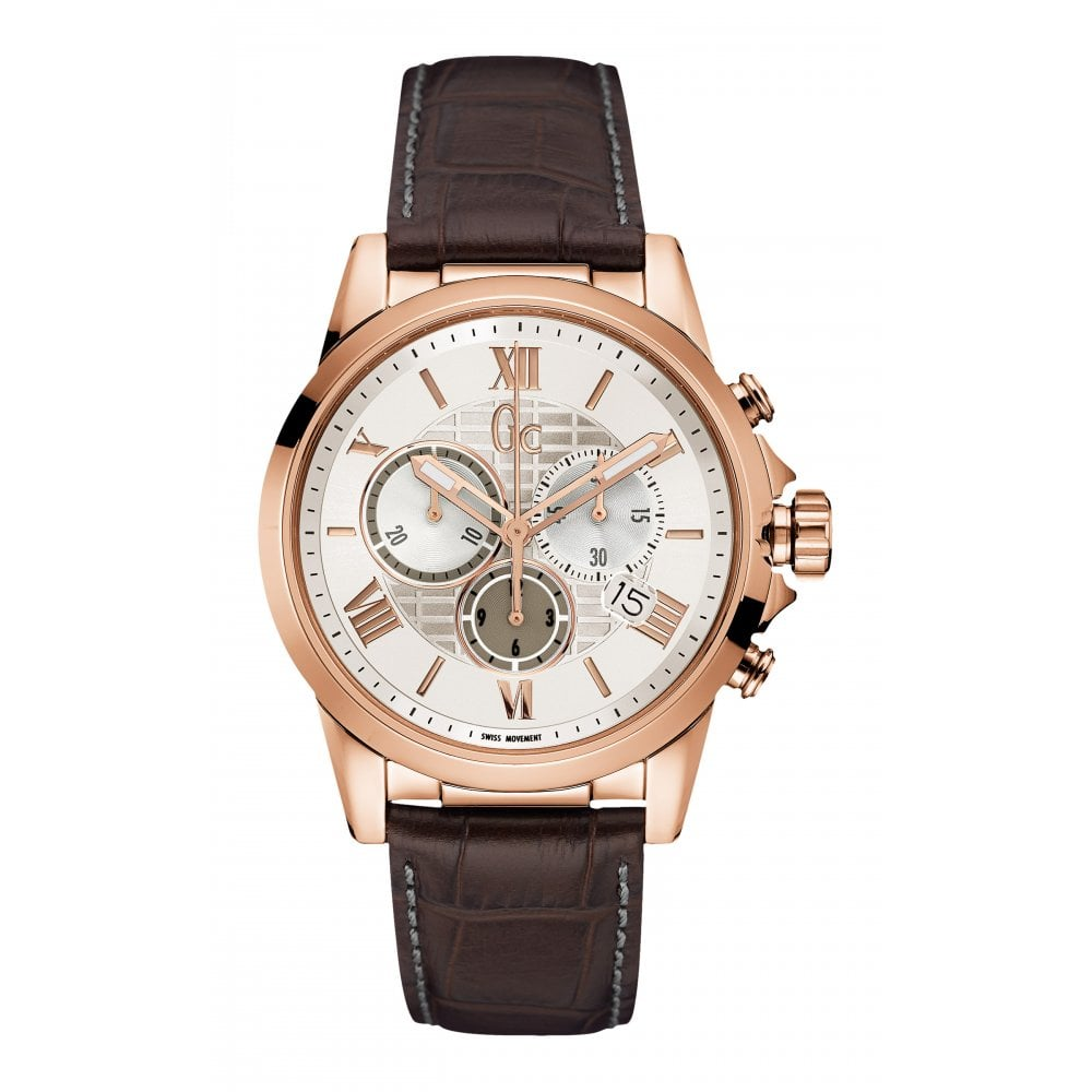 Gc Watches Gc Esquire Gents Brown Watch Y08006g1