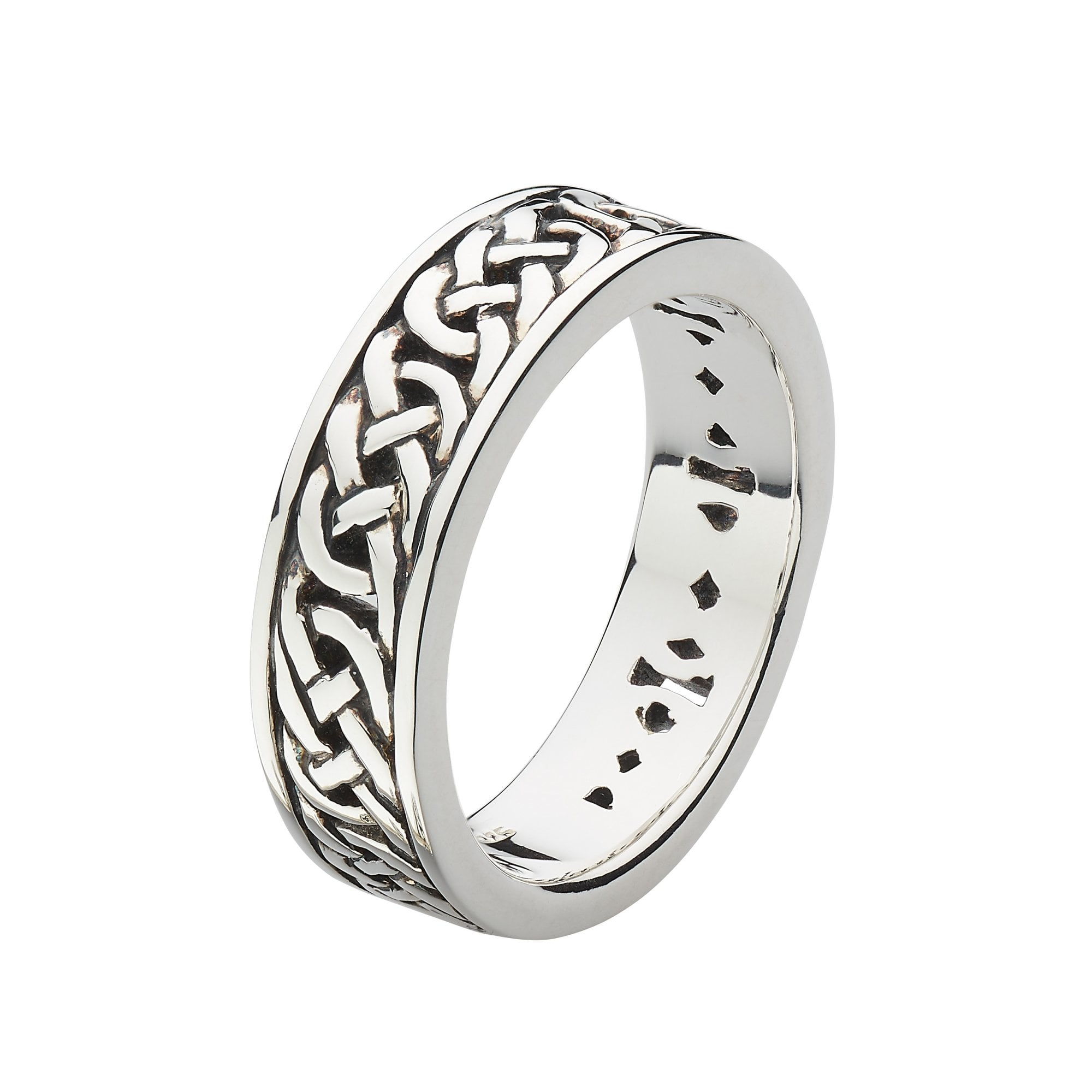 It is a picture of Heritage Sterling Silver Mens Celtic Wedding Band Ring 38HP38