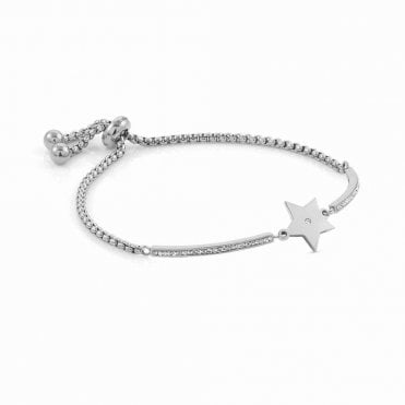 Silver/&Co Charm Bangle I Love You Star!