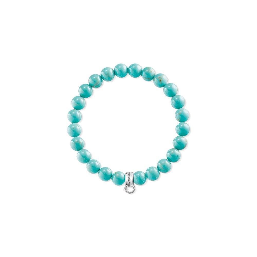 Thomas Sabo Silver Turquoise Charm Bracelet X0213-404-17