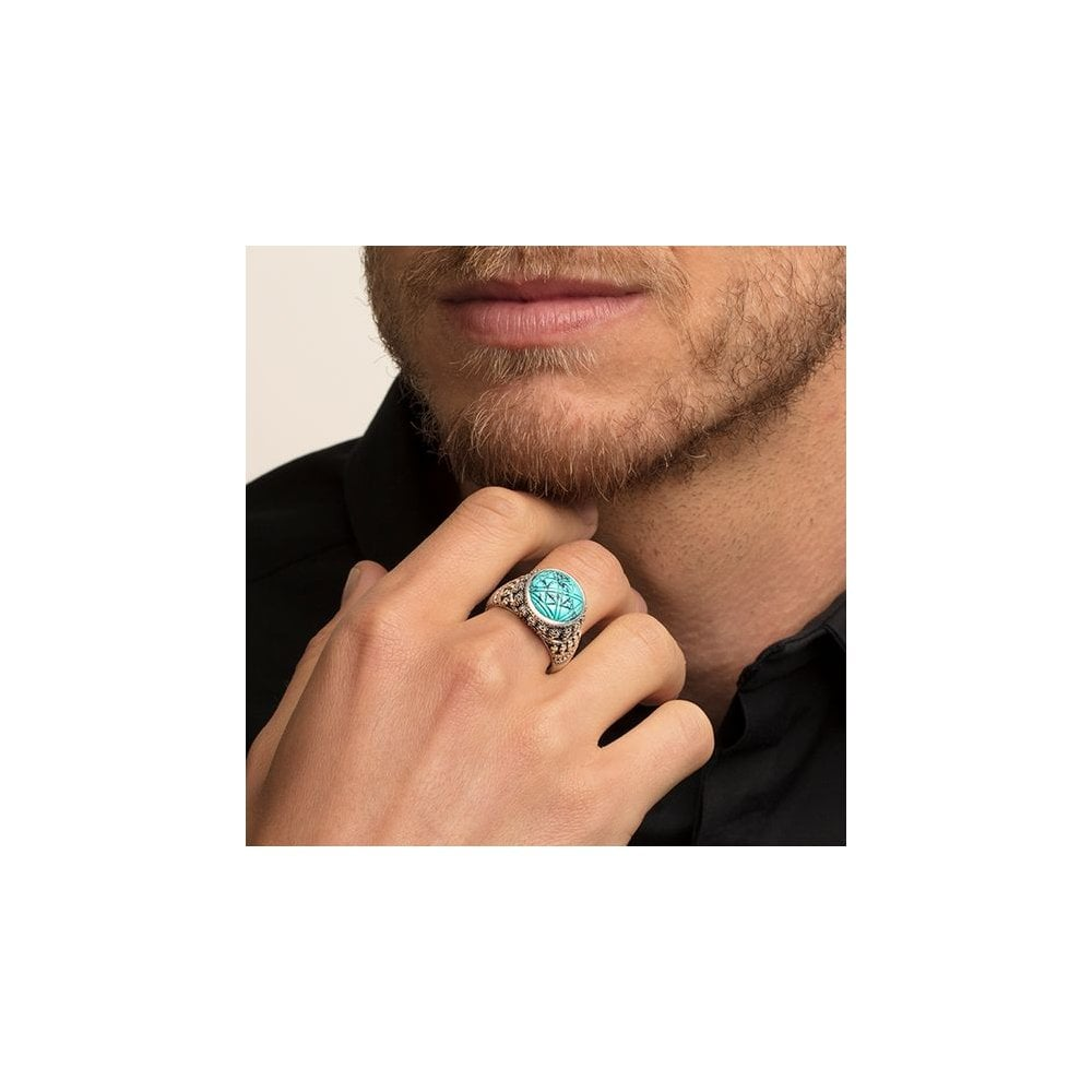 Details about  /925 Sterling Silver Genuine Turquoise Handmade Antique Ring Sz 4-12 Gift RS-1381